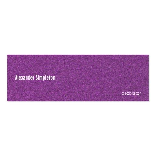 Metallic Grape Mini Business Card