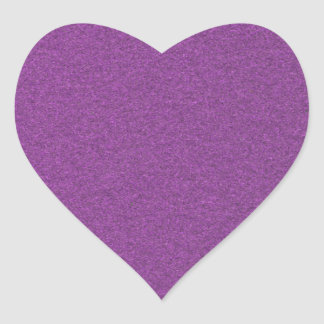 Metallic Grape Heart Sticker