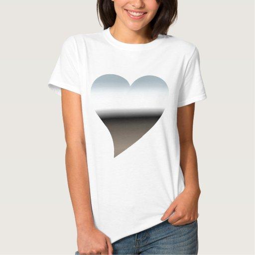 Metallic Gray Heart T-shirt