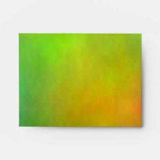 """""""Metallic Green"""" A2 Envelope R Monogram"""