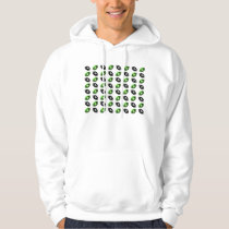 Metallic Green and Black Football Pattern Hoodie