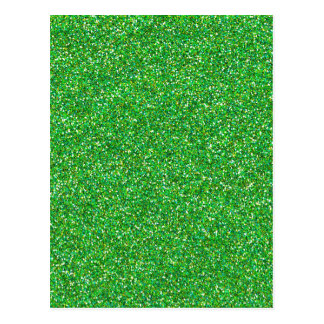 metallic green glitter texture postcard