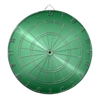 Metallic Green Stainless Steel Metal Look Dartboard With Darts
