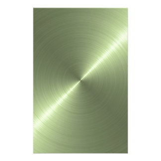 Metallic Green Customized Stationery