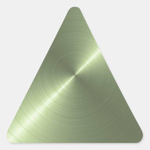 Metallic Green Triangle Sticker