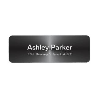 Metallic Grey Modern Elegant Stylish Trendy Label