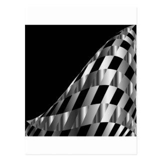 metallic grid background postcard
