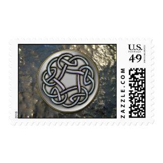 Metallic Grunge Celtic Knot Design Stamp