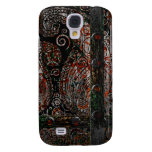 Metallic Grunge Paisley Red Rust Gray with Rivets Samsung Galaxy S4 Covers
