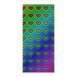metallic heart pattern rack card