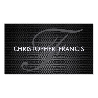 Metallic hexagon appearance monogram cards Double-Sided standard business cards (Pack of 100)