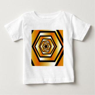 Metallic hexagonal illusion in gold colors baby T-Shirt