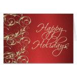 Metallic Holiday Card
