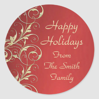 Metallic Holiday Sticker