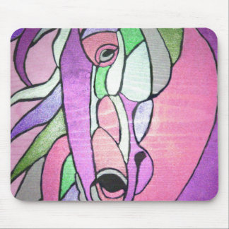 Metallic Horse in Pink Mouse Pad