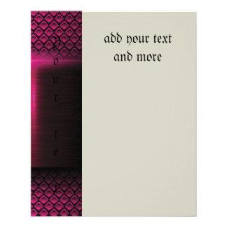 "Metallic,hot pink,modern,shimmer,science fiction, 4.5"" x 5.6"" flyer"