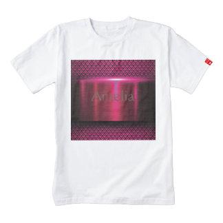 Metallic,hot pink,modern,shimmer,science fiction, zazzle HEART T-Shirt