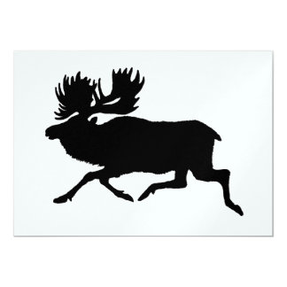 Metallic Ice Moose 5x7 Paper Invitation Card
