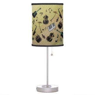 Metallic Jazz Lampshade Table Lamp