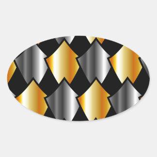 Metallic kites oval sticker