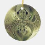 Metallic Leaves Christmas Tree Ornaments