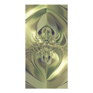 Metallic Leaves Photo Card Template