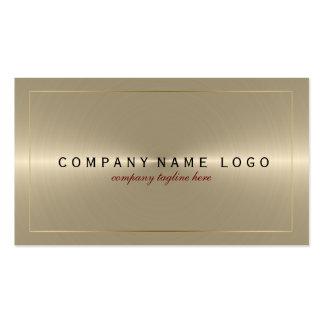 Metallic Light Gold Stainless Steel Look Business Card