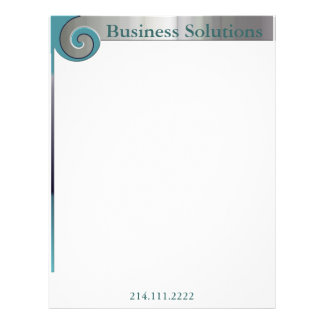 Metallic Look Professional Letterhead