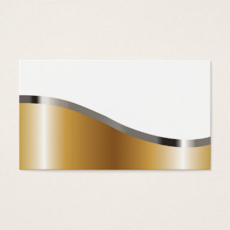 Metallic looking business card