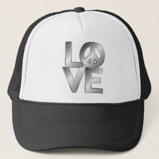 Metallic LOVE=Peace Trucker Hat