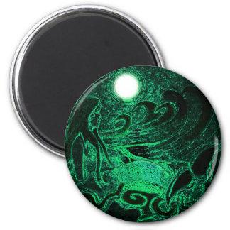 Metallic Mermaid of the Sea Fridge Magnet