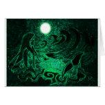 Metallic Mermaid of the Sea Greeting Cards