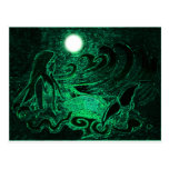 Metallic Mermaid of the Sea Post Cards