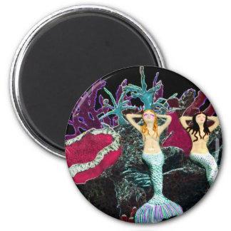 Metallic Mermaids Fridge Magnets