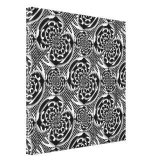 Metallic mesh pattern canvas print