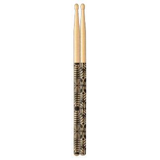 Metallic mesh pattern drum sticks