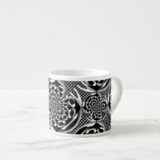Metallic mesh pattern espresso cup
