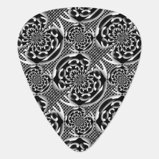 Metallic mesh pattern guitar pick