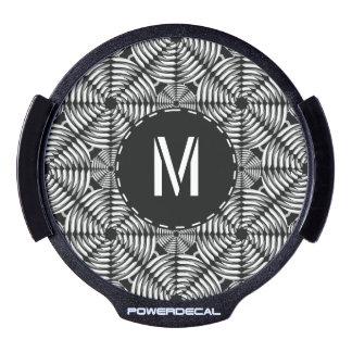 Metallic mesh pattern LED car decal