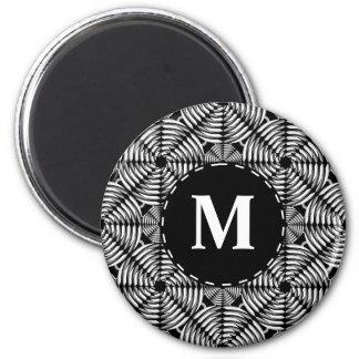 Metallic mesh pattern magnet