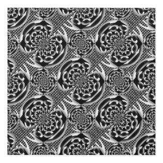 Metallic mesh pattern panel wall art
