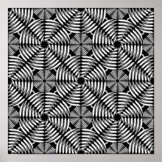 Metallic mesh pattern poster