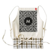 Metallic mesh pattern zazzle HEART apron
