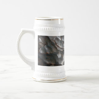 Metallic Meteorite Rock Pattern, Beer Stein