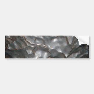 Metallic Meteorite Rock Print, Bumper Sticker