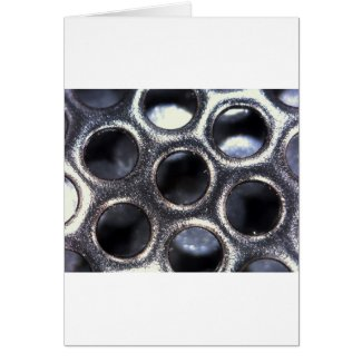 metallic microstructure holes greeting card