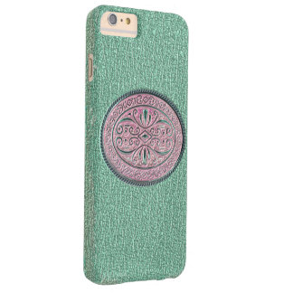 Metallic Mint Green and Pink Buckle Barely There iPhone 6 Plus Case