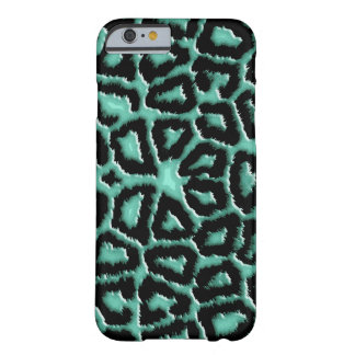 Metallic Mint Green Giraffe Barely There iPhone 6 Case