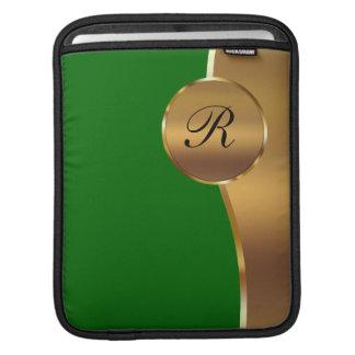 Metallic Monogram iPad Sleeves