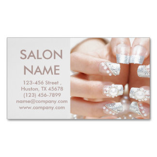 metallic nails fashion beauty SPA nail salon Magnetic Business Card